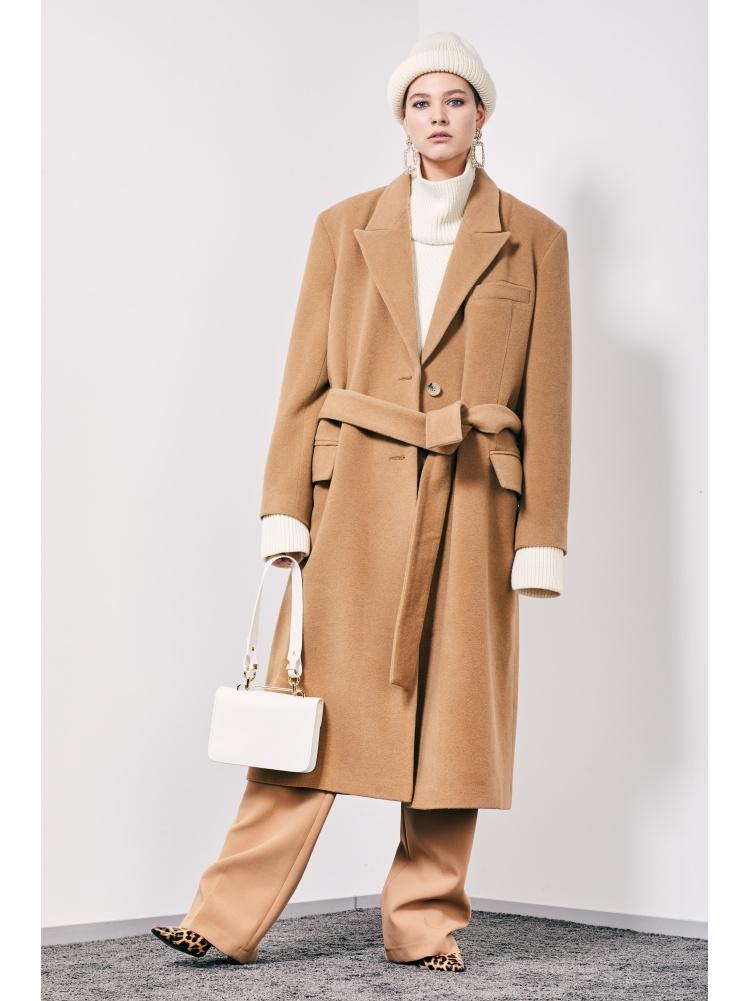 Пальто прямое beige