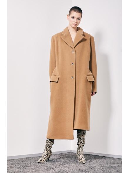 Пальто асимметричное beige