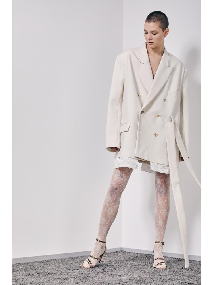 Жакет white super oversize