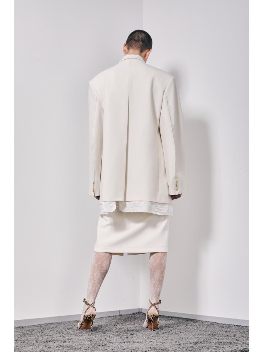 Юбка white