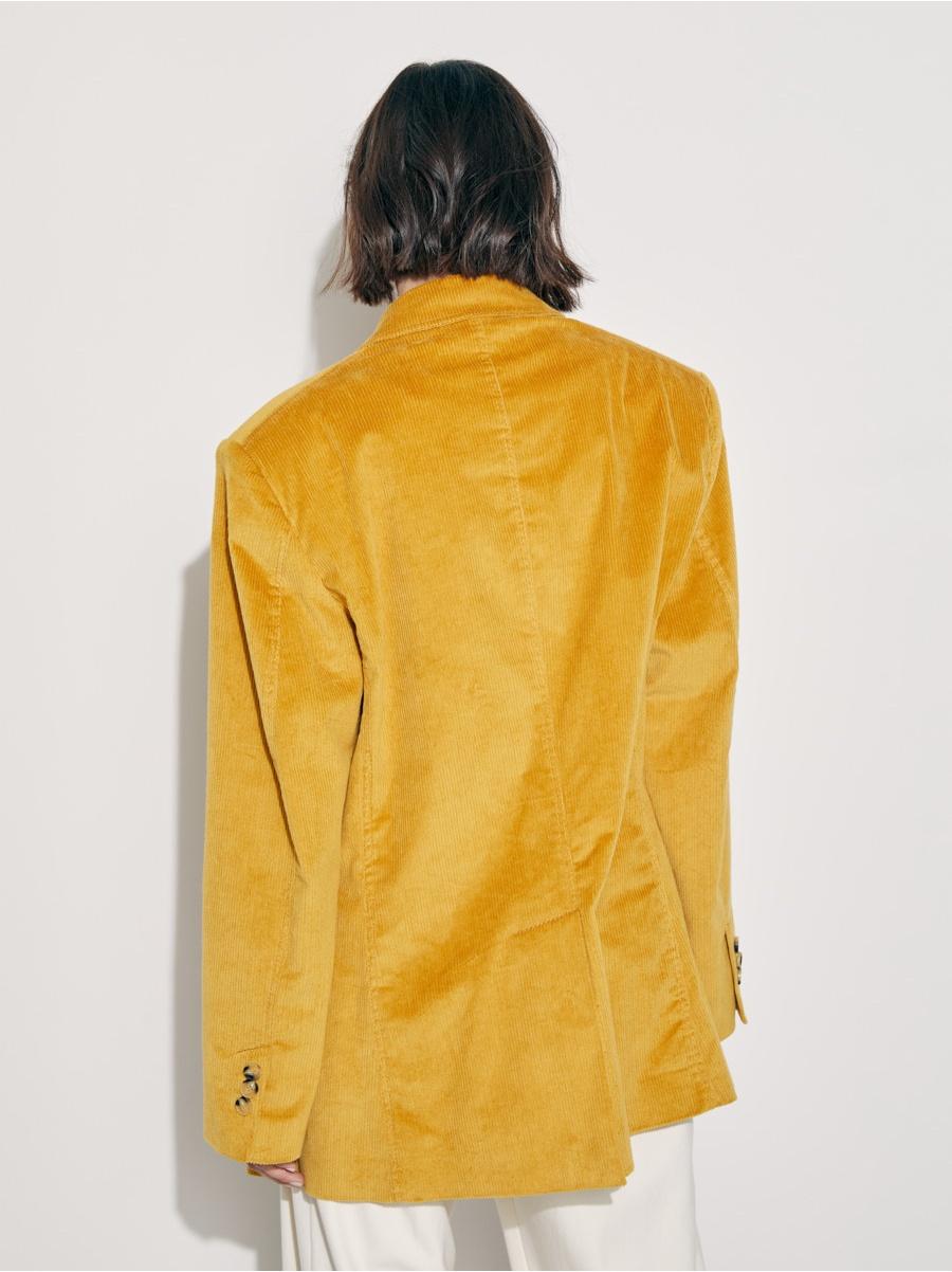 Жакет из вельвета yellow