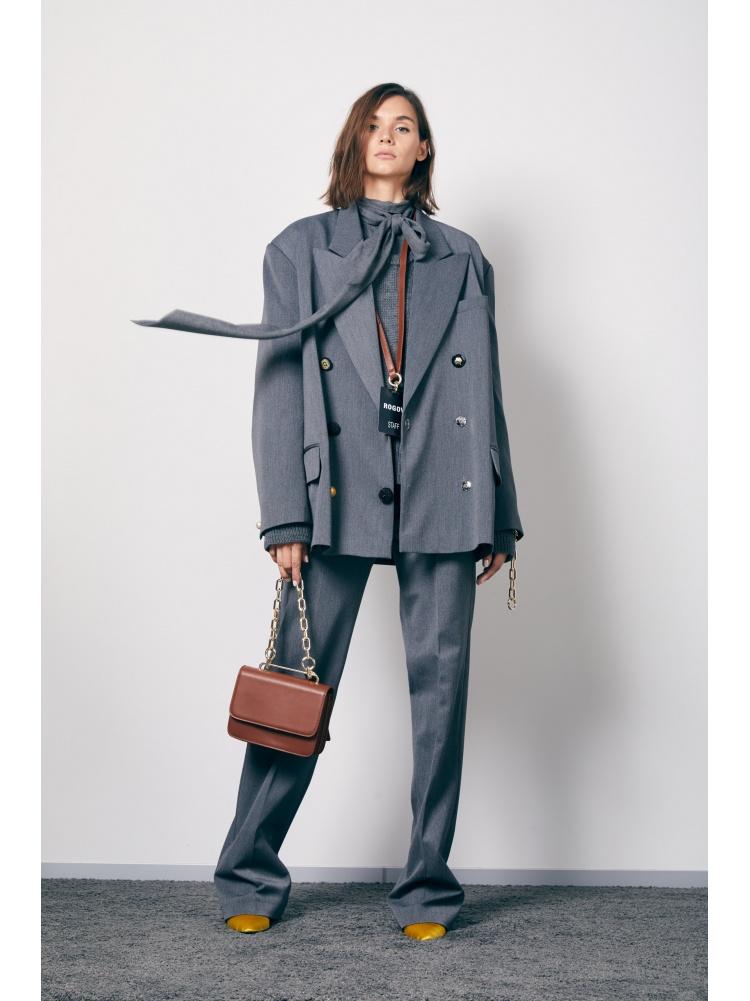 Блуза grey с бантом