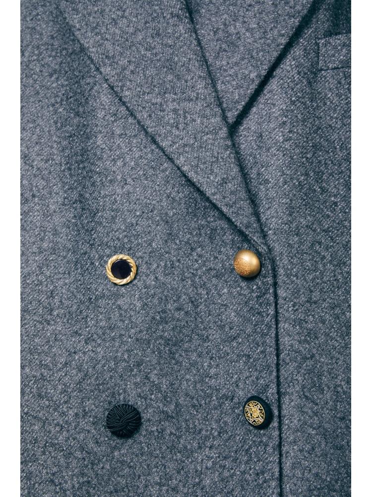 Пальто grey двубортное