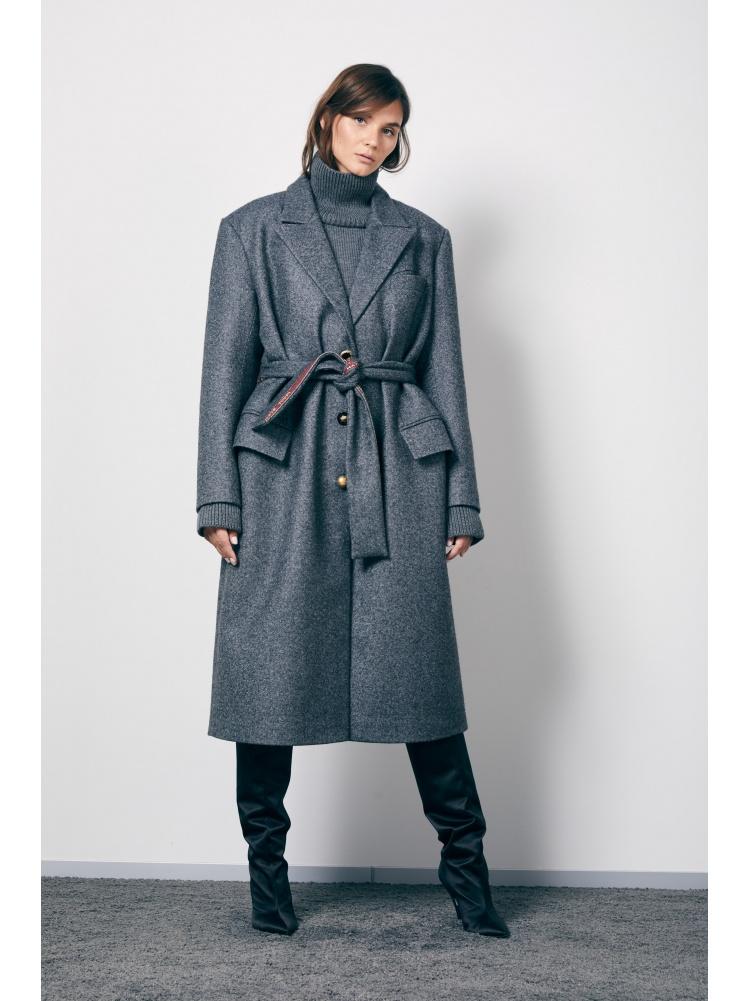 Пальто grey прямое