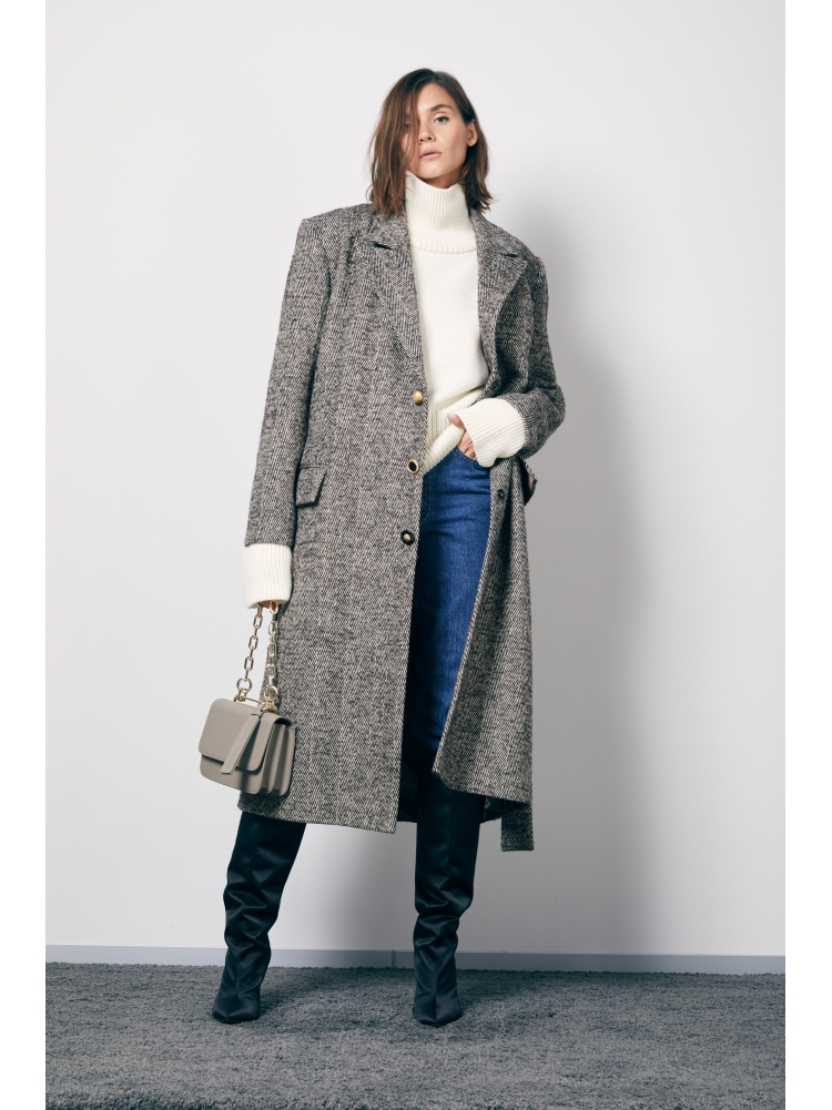 """Пальто """"ёлочка"""" прямое"""