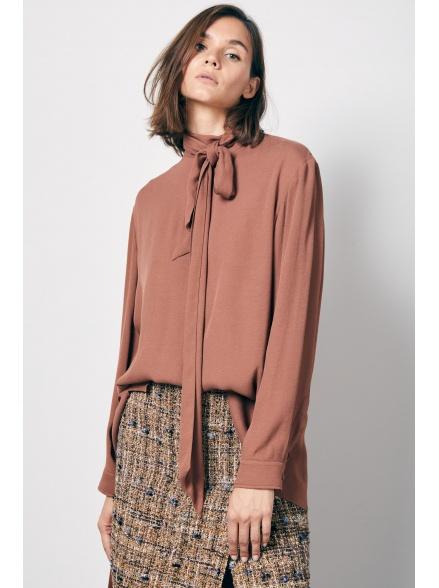 Блуза brown с бантом