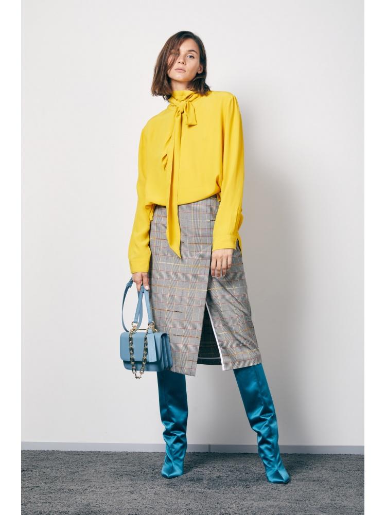 Блуза yellow с бантом