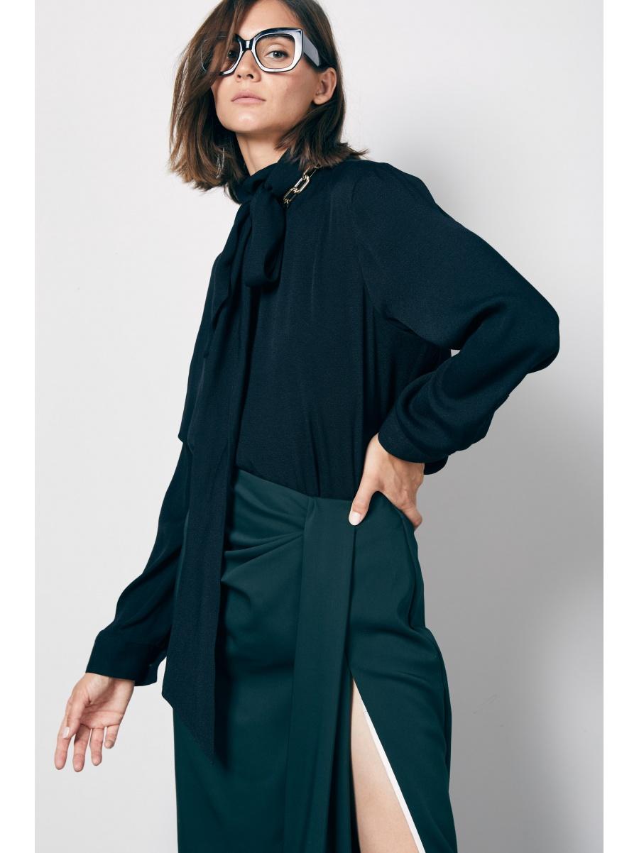 Блуза black с бантом
