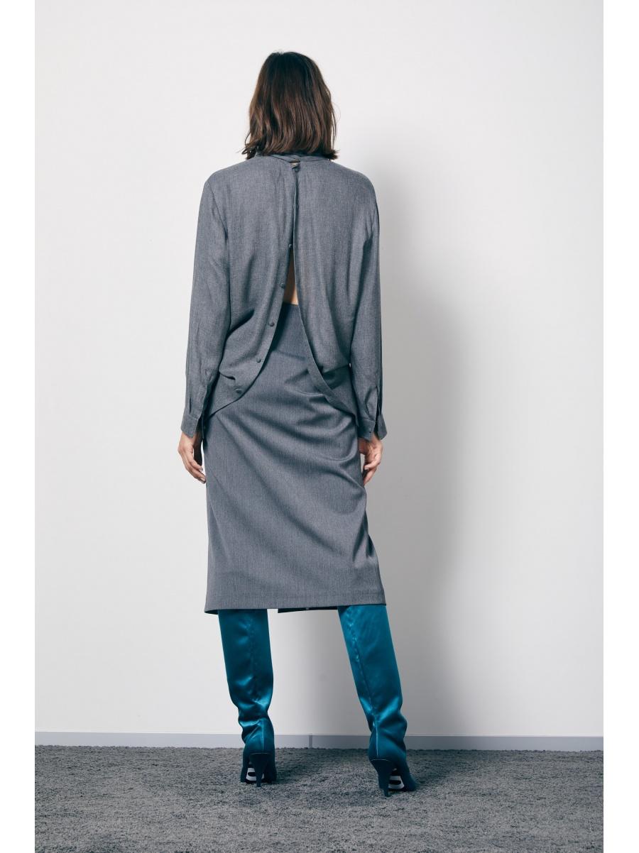 Юбка-карандаш grey