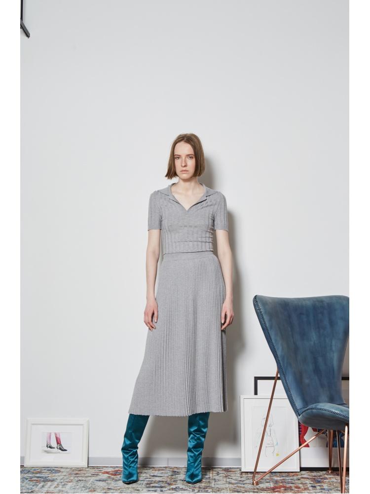 Юбка трикотажная grey