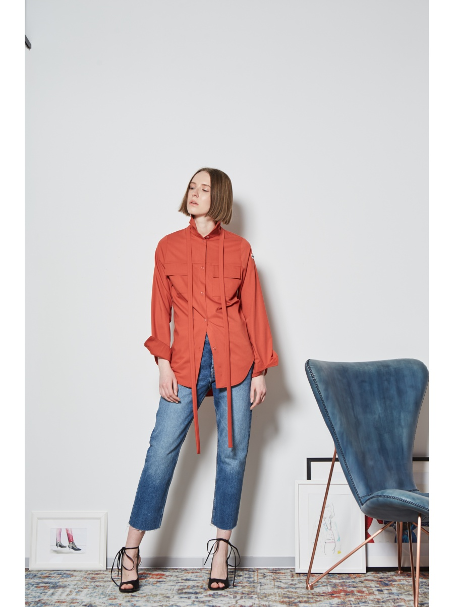 Рубашка терракот