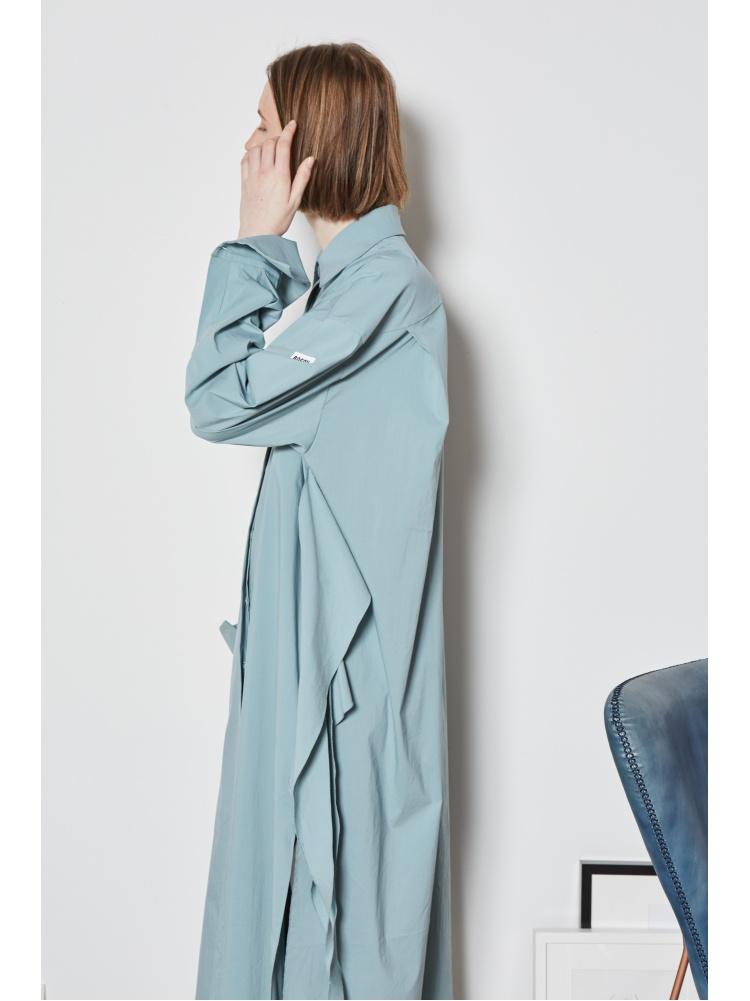 Платье-рубашка бирюзовое