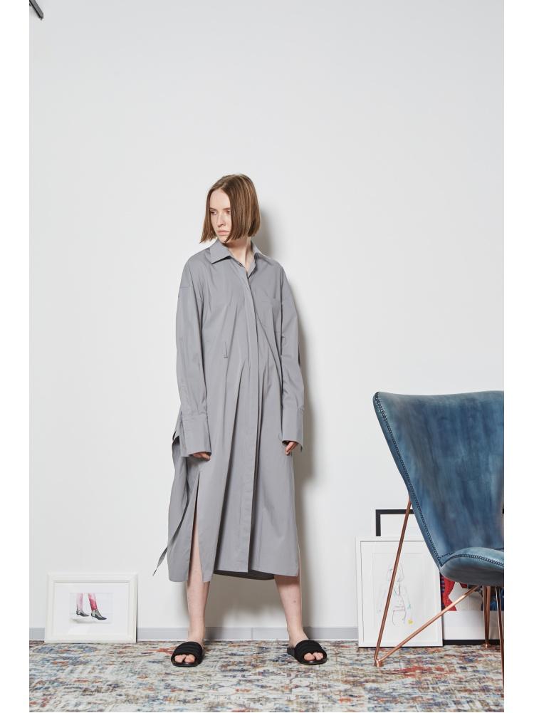 Платье-рубашка grey