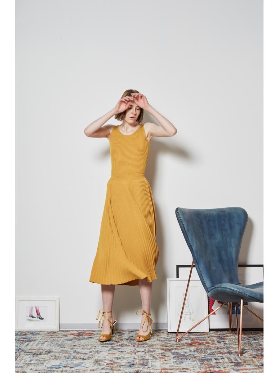 Юбка трикотажная mustard