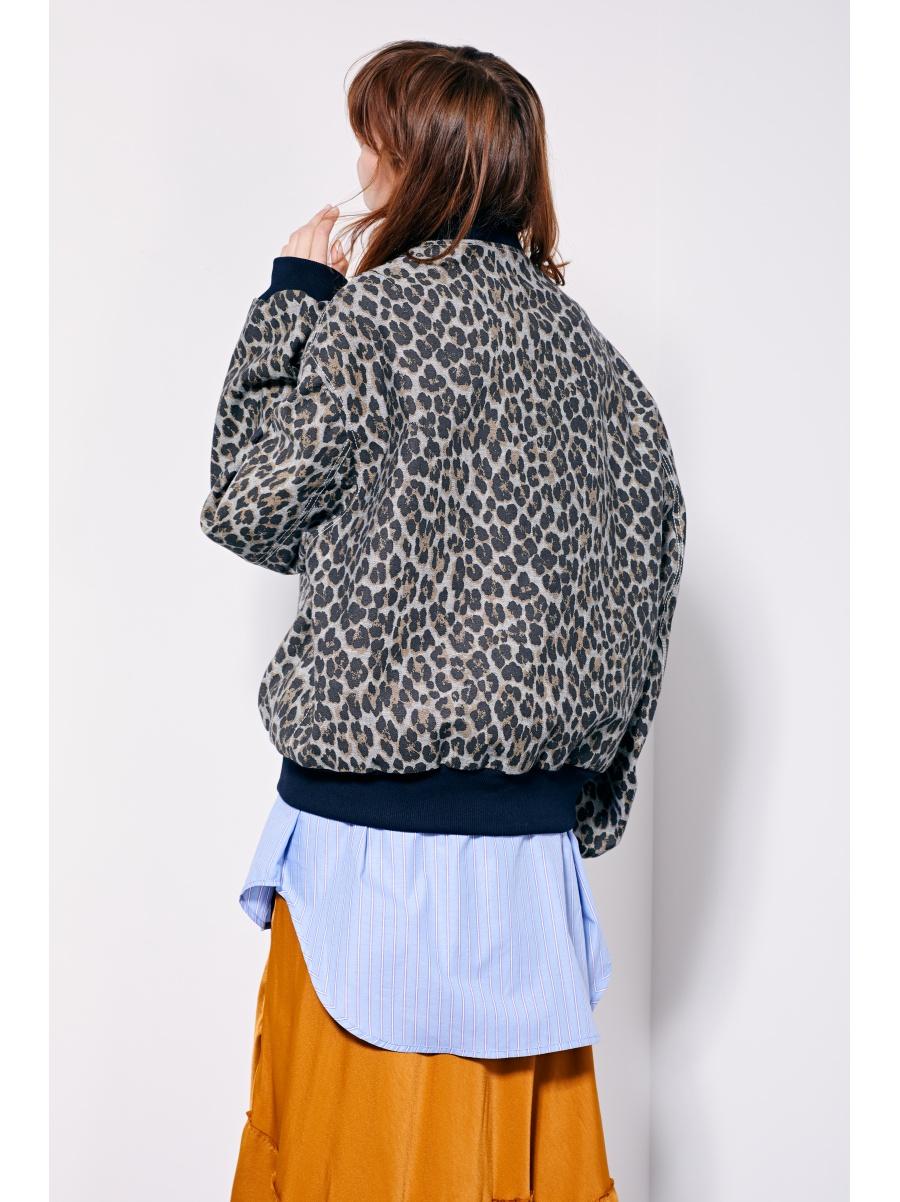 Бомбер leopard