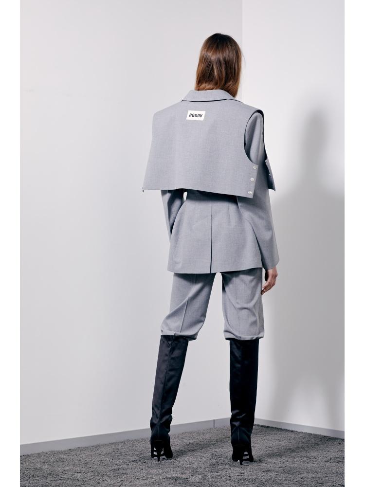 Жакет приталенный grey