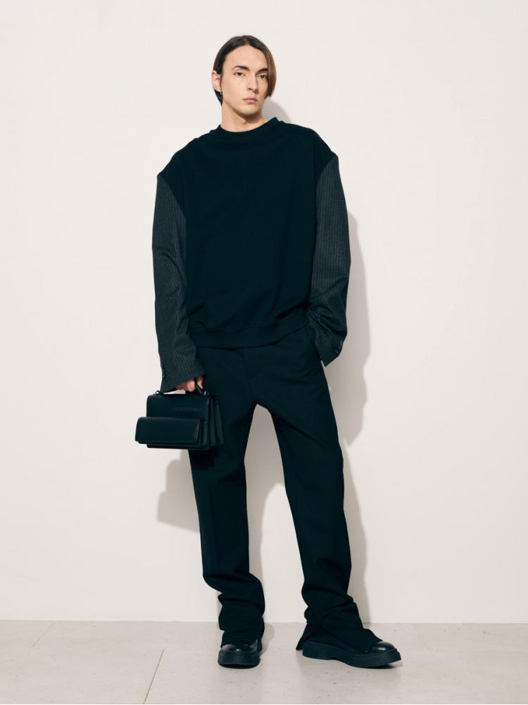 Толстовка с пиджачными рукавами black