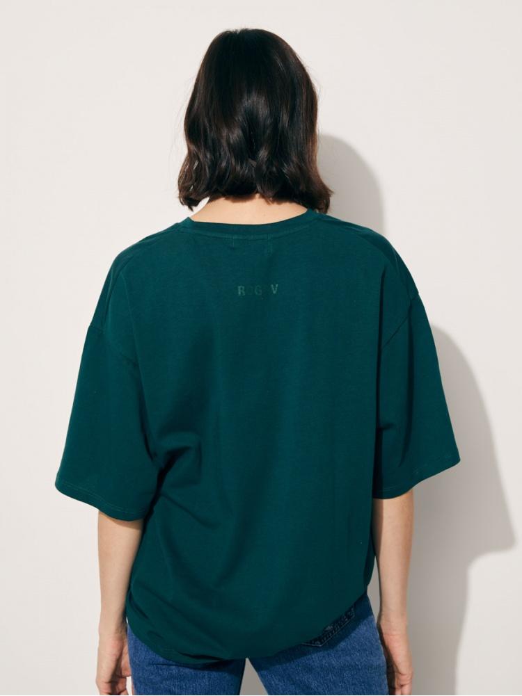 Набор из трех футболок oversize/green
