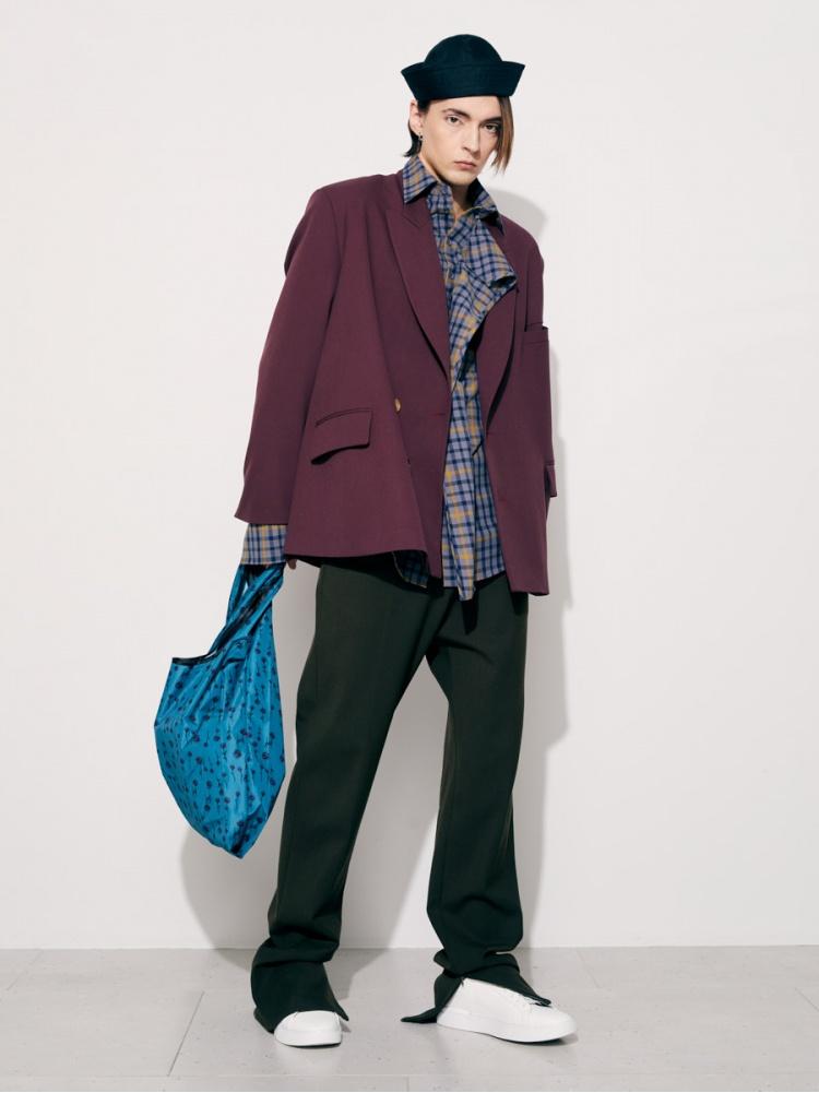 Пиджак бордовый