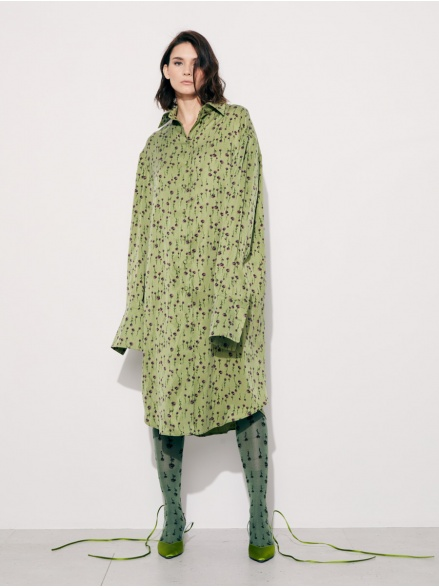 Платье-рубашка green