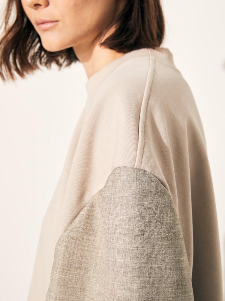 Толстовка с пиджачными рукавами grey