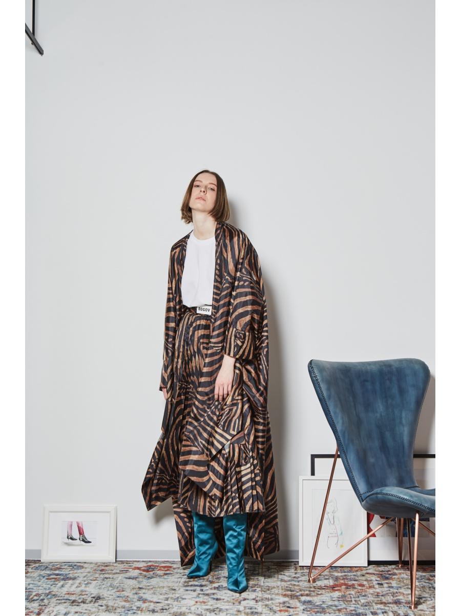Юбка плиссированная leopard