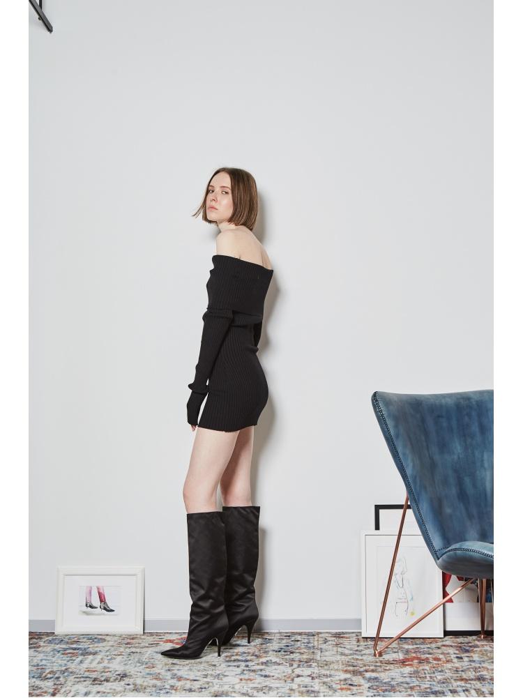 Платье трикотажное black