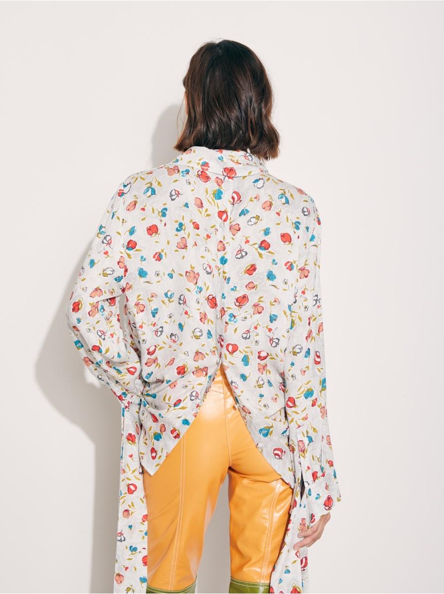 Блуза цветочки