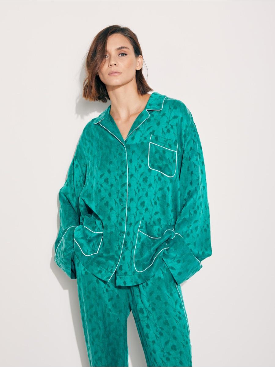Рубашка пижамная green