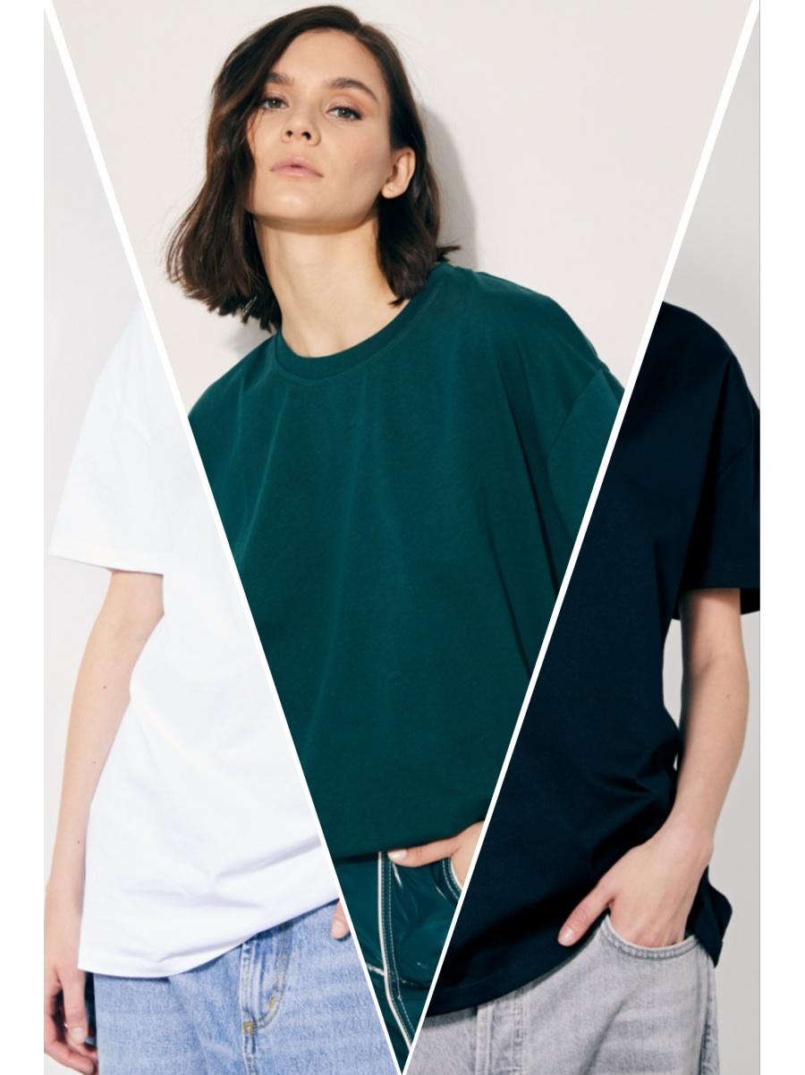 Набор из трех футболок fit/green