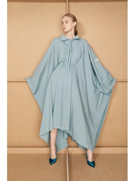 Платье-пончо бирюзовое